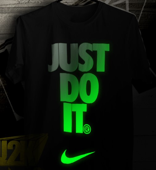 sablon kaos glow in the dark